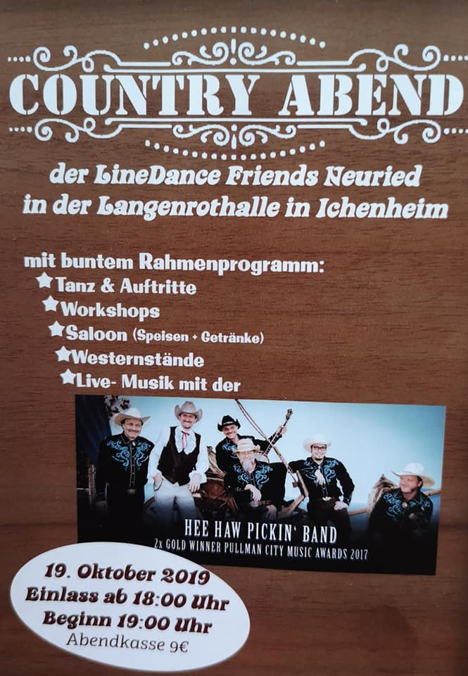 Country Abend Oktober 2019 LineDance Friends Neuried