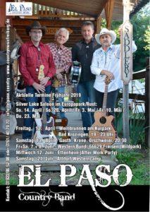 El Paso Country Band Termine Frühjahr 2019
